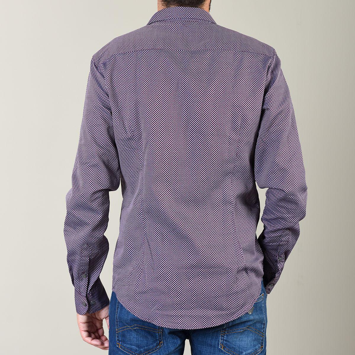 Camisa Slim Fit com Fantasia